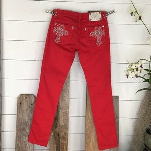 Miss Me JP5045510 Skinny Size 29 Red Jeans